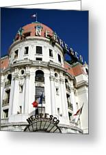 Hotel Negresco In Nice Greeting Card by Carla Parris