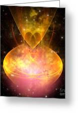 Hourglass Nebula Greeting Card by Corey Ford
