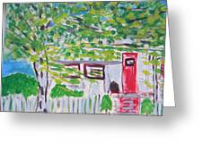 hOUSE AMONG THE TREES Greeting Card by Maggie Cruser