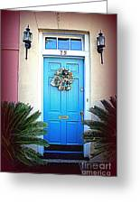 House Door 6 In Charleston Sc Greeting Card by Susanne Van Hulst