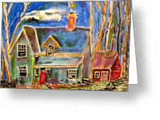 House In The Woods Greeting Card by Michael Litvack