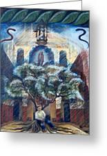 House Of Abraham Greeting Card by Barbara Nesin