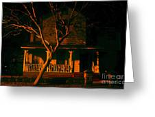 House On Haunted Hill Greeting Card by David Lee Thompson