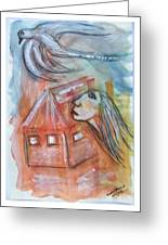 House Without A Door - Haus Ohne Tuer Greeting Card by Mimulux patricia no