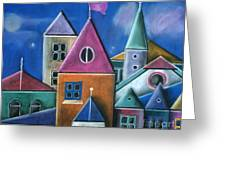 Houses Greeting Card by Caroline Peacock
