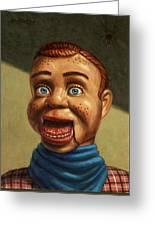 Howdy Doody Dodged A Bullet Greeting Card by James W Johnson