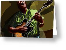 Howlin Wolf Greeting Card by David Fossaceca