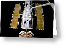 Hubble Telescope Redeployment Greeting Card by The  Vault - Jennifer Rondinelli Reilly