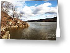 Hudson River View Greeting Card by John Rizzuto