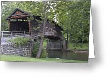 Humpback Covered Bridge In Covington Virginia Greeting Card by Brendan Reals