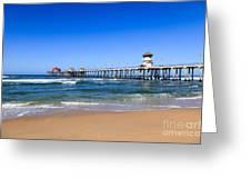 Huntington Beach Pier In Orange County California Greeting Card by Paul Velgos