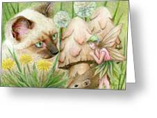 Hush Little Mouse Greeting Card by Karen Hull
