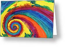 Hypnotic Swirl Greeting Card by Shawna Elliott