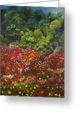 I Dream Of Poppies Greeting Card by Carol Sweetwood
