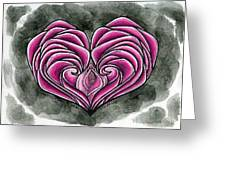 I Gave You My Heart Greeting Card by Leeanne Vavra