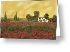 I Papaveri E La Calda Estate Greeting Card by Guido Borelli