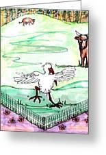 Ibis Hopping Greeting Card by Carol Allen Anfinsen
