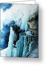 Ice Climb Greeting Card by Hanne Lore Koehler