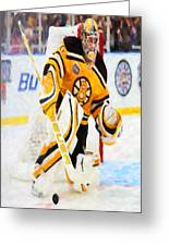 Ice Hockey Goalie Greeting Card by Lanjee Chee