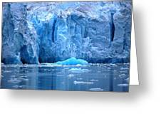 Ice Wall Greeting Card by Helen Carson