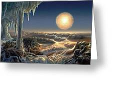 Ice World Greeting Card by Don Dixon