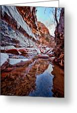 Icy Stillness Greeting Card by Christopher Holmes