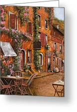 Il Bar Sulla Discesa Greeting Card by Guido Borelli