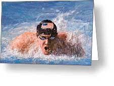 Il Nuotatore Greeting Card by Guido Borelli