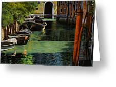 il palo rosso a Venezia Greeting Card by Guido Borelli