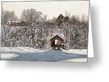Il Ponte Coperto Di Legno Greeting Card by Guido Borelli