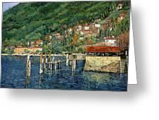 il porto di Bellano Greeting Card by Guido Borelli