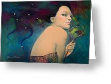 Illusory Greeting Card by Dorina  Costras