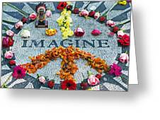 Imagine Peace Greeting Card by Sharla Gentile