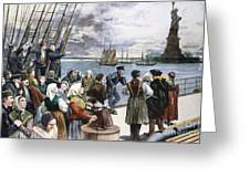 Immigrants On Ship, 1887 Greeting Card by Granger