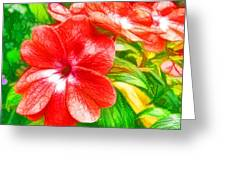 Impatiens Flower Greeting Card by Lanjee Chee