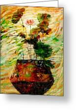 Impression In Lotus Tree Greeting Card by Atiketta Sangasaeng