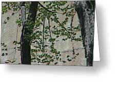 Impression Of Wall And Trees Greeting Card by Lenore Senior