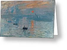 Impression Sunrise Greeting Card by Claude Monet