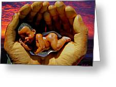 In Good Hands Greeting Card by Michael Durst