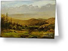 In The Foothills Of The Rockies Greeting Card by Albert Bierstadt