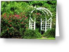 In The Garden Greeting Card by Carolyn Marshall
