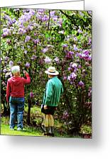 In The Lilac Garden Greeting Card by Susan Savad