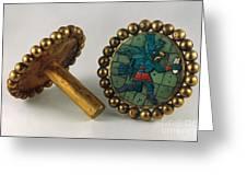 Inca Earrings Greeting Card by Granger