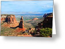 Independance Rock Greeting Card by Deanne Smith