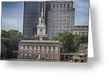 Independence Hall Greeting Card by Tom Gari Gallery-Three-Photography