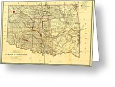 Indian Territory Greeting Card by PG REPRODUCTIONS