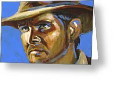 Indiana Jones Greeting Card by Buffalo Bonker
