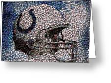 Indianapolis Colts Bottle Cap Mosaic Greeting Card by Paul Van Scott