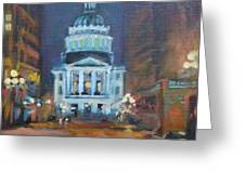 Indy Government Night Greeting Card by Donna Shortt