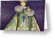 Infant Jesus of Prague Greeting Card by Yuriy  Shevchuk